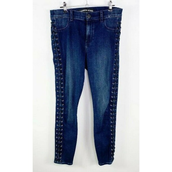 Express Jeans Lace up Leggings High Rise Jeans 6S